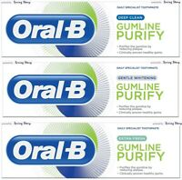 Oral-B Gumline Purify Reduce Plaque Toothpaste -Deep Clean/Whitening/Extra Fresh