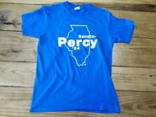 Vintage 1984 Political 84 Senator Percy T-Shirt  L Union Made Adult Republican