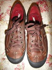 Kalso Earth  Women US 6 B Brown Sneakers shoes lace up sandstone nolita