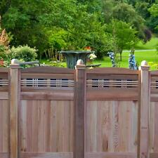 Privacy Fence Panel Wood Lattice Top Fencing Gate Border Garden Backyard Outdoor