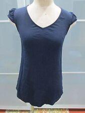 Maeve Anthropologie Cap Sleeve V-Neck Navy Tunic Size 0