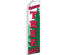 Christmas Tree Sale Red / White / Green Swooper Super Feather Advertising Flag