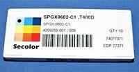 New  Seco SPGX0602-C1, T400D Carbide Drilling  Inserts 9Pcs lot