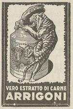 W3580 Vero estratto di carne ARRIGONI - Pubblicità 1925 - Advertising