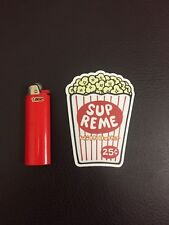 Supreme New York  Popcorn Bag Vinyl Die-Cut Sticker NEW