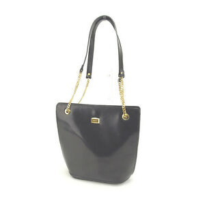 Bally Shoulder bag Black Gold Woman Authentic Used L755