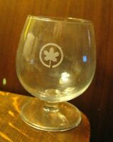 Air Canada Airlines Brandy Snifter - Vintage AC Airways Maple Leaf Wine Glass