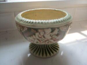 Old Weller Fairffeld Pedestal Bowl. Cherubs