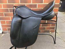 "Ideal Suzannah Dressage Saddle NM to Medium Fit Black 18"""