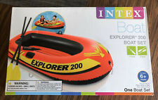 Intex Explorer 200 Inflatable 2 Person River Boat Raft with 2 Oars & Pump