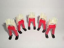 Playmobil 5 . Garde Gambe pantaloni lunghi ACW rosso / nero Francese Guardie