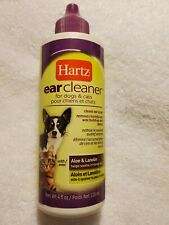 Hartz Ear Cleaner for Dogs & Cats, with Aloe & Lanolin - 4 fl oz (118 mL)
