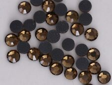 DMC  Rhinestones 2880 pcs   10ss Smoked Topaz  Hotfix iron-on