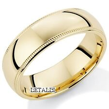 10K YELLOW GOLD MENS WEDDING BAND RING 6MM