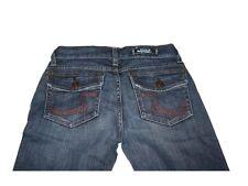 Women Ladies Rock & Republic Stevie Jeans Flare Dark Wash Red R Pocket Size 26