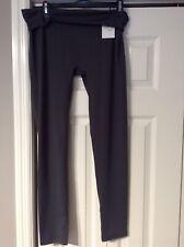 Nwt Fold-over Waist Leggings Skinny Spandex Pants Exercise Yoga Gray Size Large
