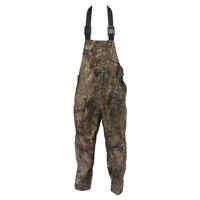 Mossy Oak Waterproof Hunting Bib Overalls | Duck Blind Camo | Brown | Fowl