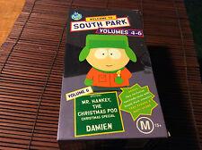 VHS MOVIE. SOUTH PARK.VOLUMES 4-6.PINKEYE.MR HANKEY.BOX SET