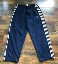 VTG ADIDAS Track Pants Soccer Running Basketball Navy Blue Mens Athletic XL