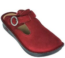 Alegria Classic Shearling Clogs Shoes Sz 40 (US 10) Burgundy Suede NEW $120