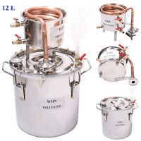 12L Moonshine Still Stainless Distiller Brandy Alcohol Essential Oil Water DIY