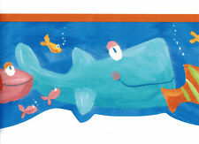 Under The Sea Wallpaper Border Tropical Starfish Whale Nemo Kid Bathroom Decor
