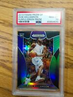 ZION WILLIAMSON 2019/20 PANINI PRIZM Draft Picks DP RC PURPLE GREEN /199 PSA 10