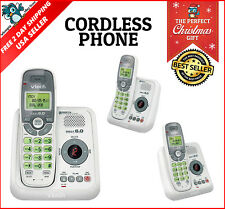 Cordless Telephone Answering Machine System Caller ID Handset Landline Phone New
