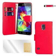 Libro Cartera Funda Samsung Galaxy S Modelos + PROTECTOR PANTALLA & Lápiz Táctil