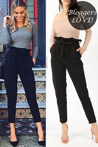 Womens Ladies Black Pleated Cigarette Trousers Snake Print Frill Bardot Wrap Top