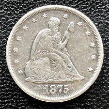 1875 P Twenty Cent Piece 20c P Philadelphia RARE Silver High Grade XF #19555