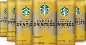PACK OF 6 Starbucks Sunrise Blend Blonde Roast Ground Coffee BEST BEFORE 11/2019