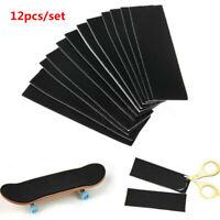 Lots 12pcs Wooden Fingerboard Deck Uncut Sandpaper Grip Tape Stickers 110mmx35mm