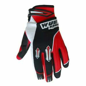 Wulfsport Youth Kids Stratos Motocross MX Quad Bike Gloves - Red