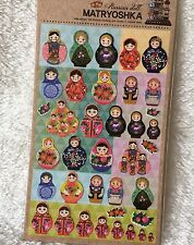 Russian Tumbling Dolls Paper Stickers Travel Scrapbook diary Cardmaking DIY