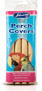 Johnson's 4 Sanded Perch Covers Large - helps keep nails and beaks trim
