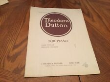 Theodora Dutton For Piano Dance Poetique Sheet Music Antique 1917