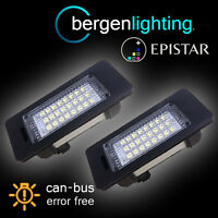 FOR BMW 3 SERIES E90 E91 E92 E93 M3 24 LED NUMBER PLATE LIGHT LAMP PAIR