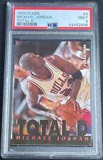 1995 Fleer Total D Insert Michael Jordan #3 PSA 9 MINT Chicago Bulls GOAT HOF