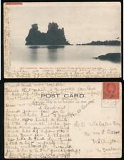 FIJI 1906 NEW CALEDONIA POSTCARD by BERGERET to NEW ZEALAND 1d KE7