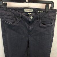 Calvin Klein Women's Ankle Skinny Jeans Gray Pinstripe Size 6 I11