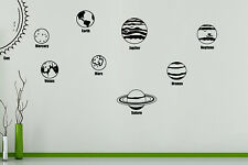 Solar System Planets Earth Mars Jupiter Saturn Sun Wall Decal Sticker Picture