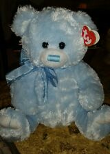 "New Ty Tysilk Radcliffe Blue bear plush Baby Boy Nusery Shower Gift 11"" Nwt #S1"