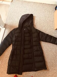 Womens North Face Long Puffer Coat - 550 Down black,Size Small