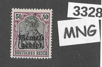 #3328    PF50  MNG stamp Sc09 1920 Memel / Lithuania / Prussia / Germany WWI