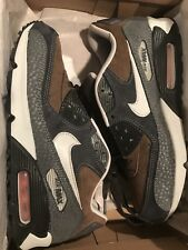 Nike Air Max AM 90 Premium Safari Atmos Sable Olive Green Blue 308856-201 9.5