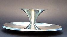 MiD CENTURY SPACE AGE TULiP FLYiNG SAUCER STAiNLESS CHiP & DiP TRAY PLATTER BOWL
