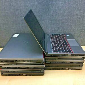 Job lot of 12 Fujitsu E756 / E736 / E754 / E734 laptops, various issues