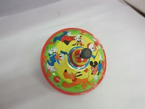 VINTAGE STRACO SPINNING TOP DISNEY GRAPHICS EXCELLENT CONDITION 835