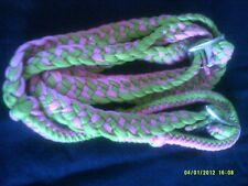 "Reins Contest/Barrel Racing Pink & Lime Green 8' 8"" 1"" Wide Showman Brand"